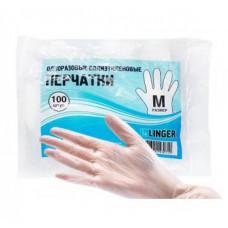 Перчатки полиэтиленовые, одноразовые, размер «L» 100 шт/упак.