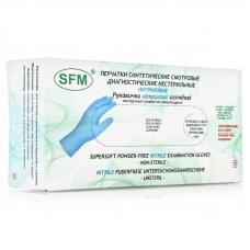 SFM, Нитриловые перчатки, голубые, размер «M» 100 шт/упак.