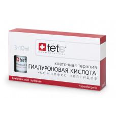 TETE Cosmeceuticals. Гиалуроновая кислота + КОМПЛЕКС ПЕПТИДОВ. Сыворотка 3х10 мл