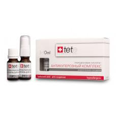 TETE Cosmeceuticals. Гиалуроновая кислота + АНТИКУПЕРОЗНЫЙ КОМПЛЕКС. Сыворотка 3х10 мл