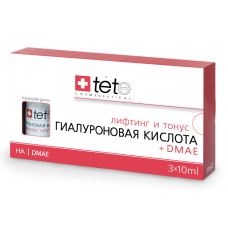 TETE Cosmeceuticals. Гиалуроновая кислота + DMAE. Сыворотка 3х10 мл