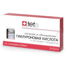 TETE Cosmeceuticals. Гиалуроновая кислота + ЭКСТРАКТ ПЛАЦЕНТЫ. Сыворотка 3х10 мл